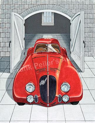 "Alfa Romeo 6C 2500  18"" x 24"" (framed)"