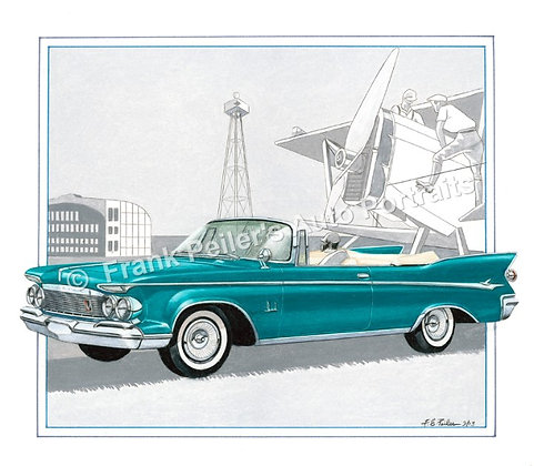 "1961 Imperial in 1929 22""x17"" Print"