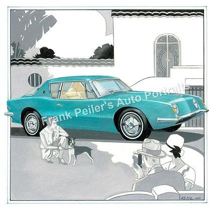 "1963 Studebaker Avanti in 1929 22""x17"" Print"