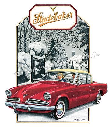 """1953 Studebaker in 1920 22""""x17"""" Print"""