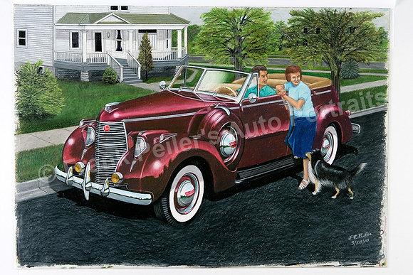 """1938 Studebaker  24"""" x 16"""" (framed)"""