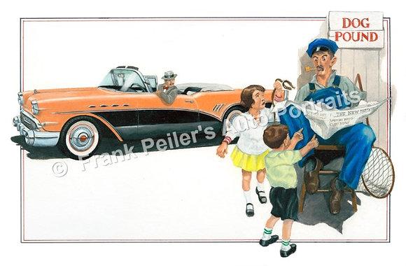 """1957 Buick in 1925 22""""x17"""" Print"""