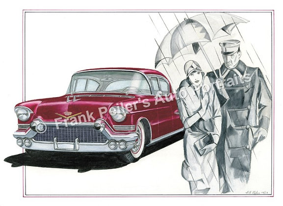 "1957 Cadillac in 1928 22""x17"" Print"