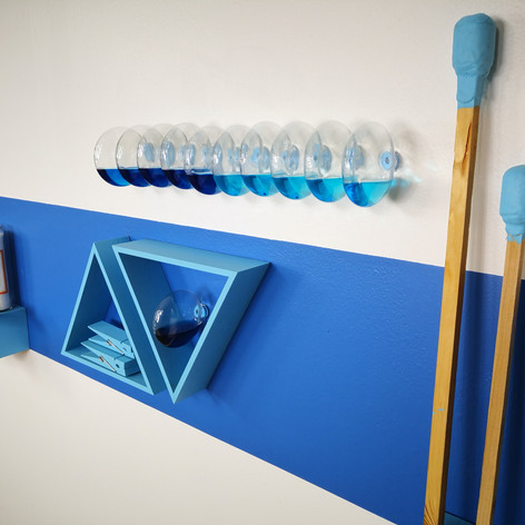 """Detail of items in the""""Blue Shrine"""""""