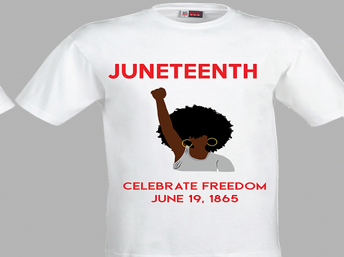 Juneteenth with dark-skin woman