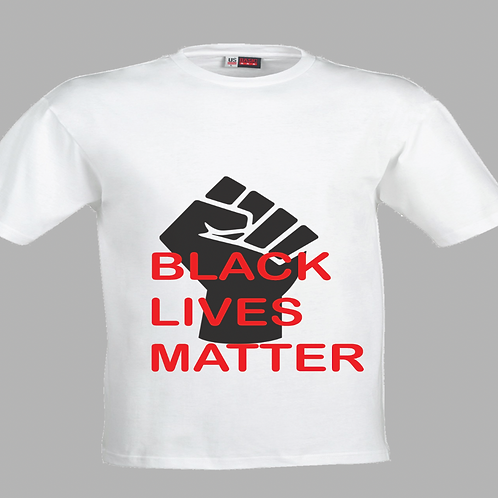 Black Lives Matter with fist  (2 colors)