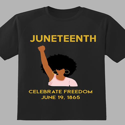 Juneteenth with brown-skin woman