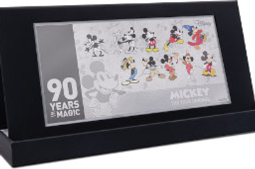 Mickey Mouse 90th Ann. - Coin Note