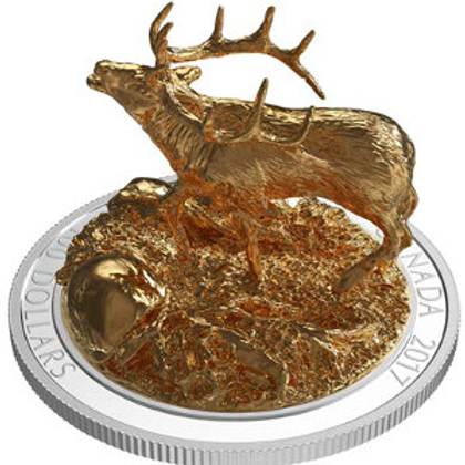 Sculpture of canadian animal: Elk