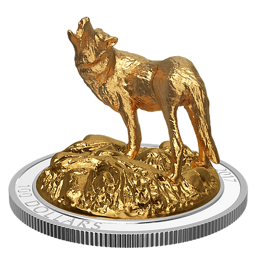 Sculpture of canadian animal: Wolf