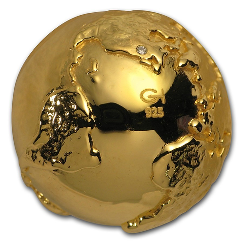 Golden Globe with Diamond 3 D
