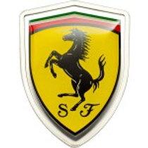 Ferrari with enameled logo