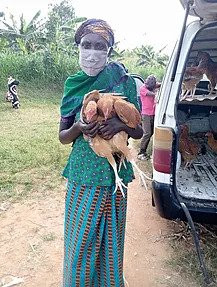 """Training on """"Rearing Laying Hens"""" and Distribution of laying hens at Kabisine Village"""