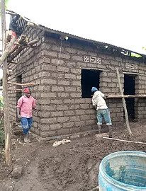 Building a house for our beneficiary