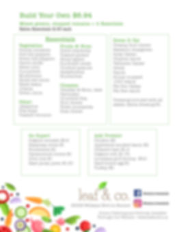 leaf & co. menu page 2