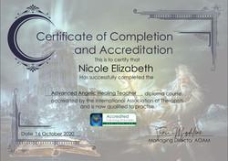 Advanced Angelic Healing Trainer diploma