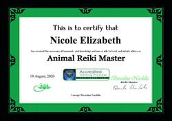 Animal Reiki Master Certificate