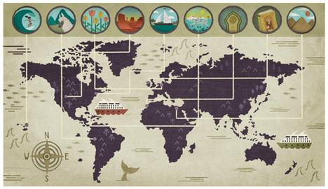 AAA Traveler Magazine - World Map