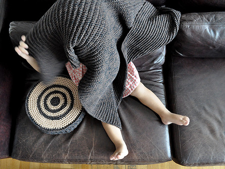 baby blanket + pillow + pouff