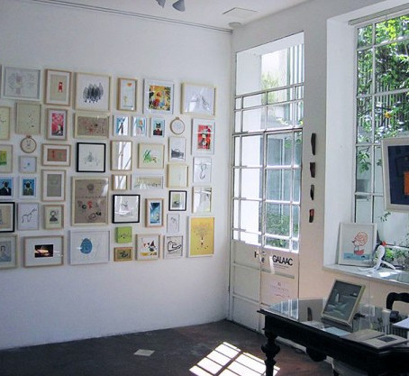 my embroideries at Mar Dulce Gallery