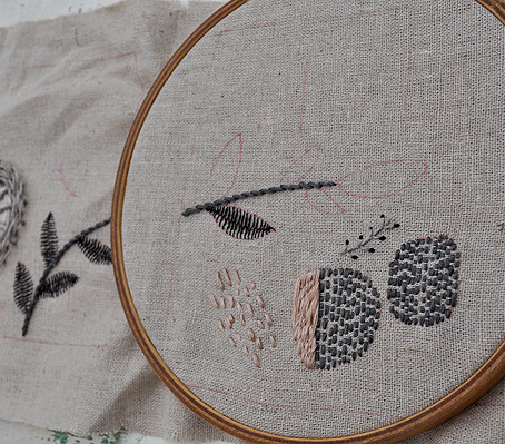 embroidering shoes