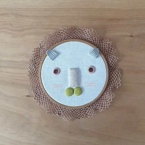Máscara de león pastel