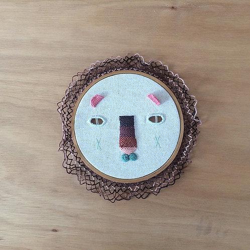 Máscara de león coral y acua