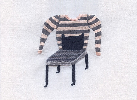 chair with tsumori chisato jumper