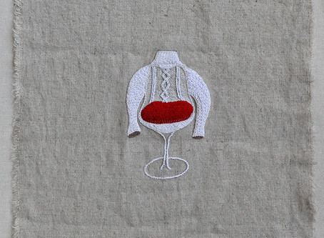 tulip chair with turtleneck