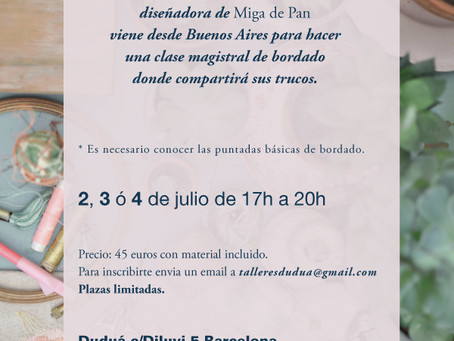 i will be teaching an embroidery workshop in barcelona