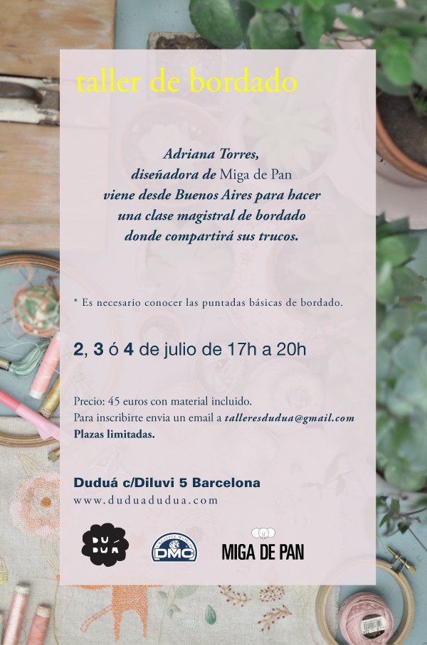 embroidery workshop in barcelona