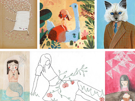 I will show my latest embroideries at Mar Dulce, the cutest gallery in Bs As!!!!