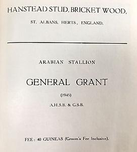 General Grant Stud fees