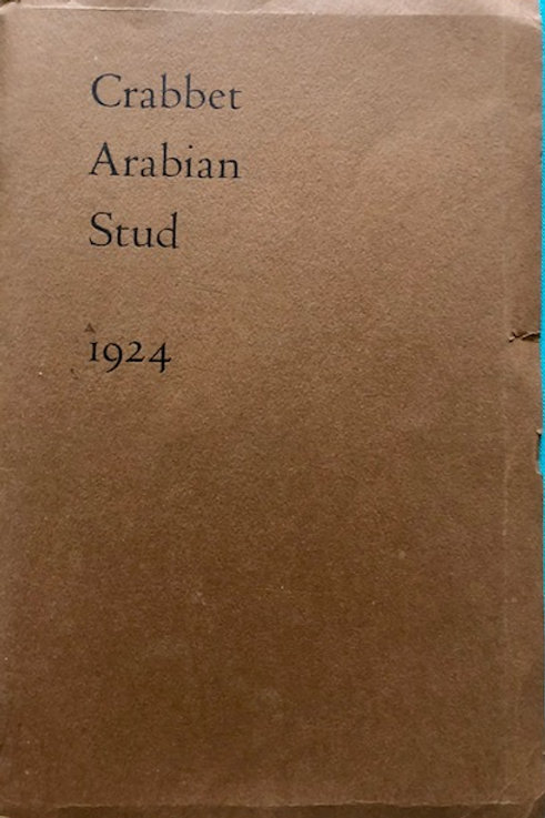 The Crabbet Stud booklet of 1924 with cover