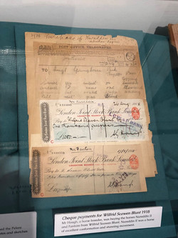 Wilfrid Blunt cheques