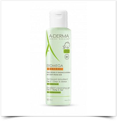 A-Derma Exomega Control Gel Corpo Cabelo 500ml