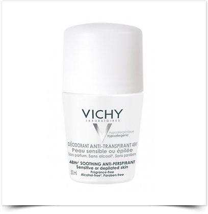 Vichy Desodorizante Roll-On Antitranspirante 48H Pele Sensível | 50ml