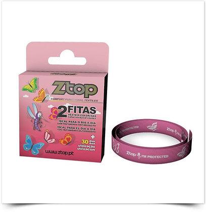 Ztop Fita Têxtil Colorida Rosa - 2 Unidades