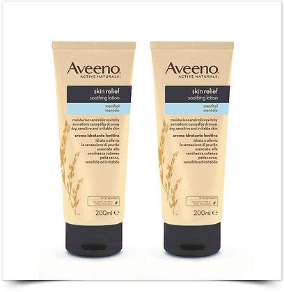 2X Aveeno Skin Relief Creme Hidratante Lenitivo Mentol | 200ml