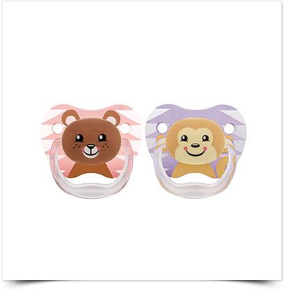 Dr Brown's Prevent Chupeta Silicone Animais Menina 6-12M | X2