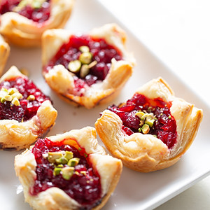 Cranberry puff pastry