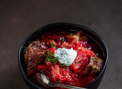 Savory beets soup aka Borsch