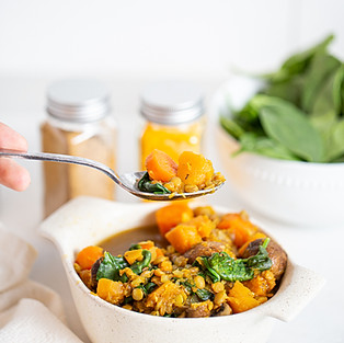 green lentil sweet potato stew