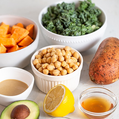 sweet potato chickpea kale