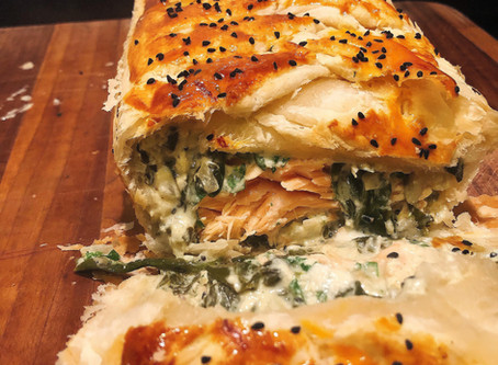 Salmon & Spinach Pie