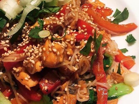 Salmon Teriyaki Noodles