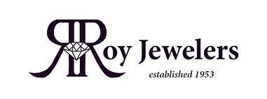 Roy Jewelers Black & White Logo (inside