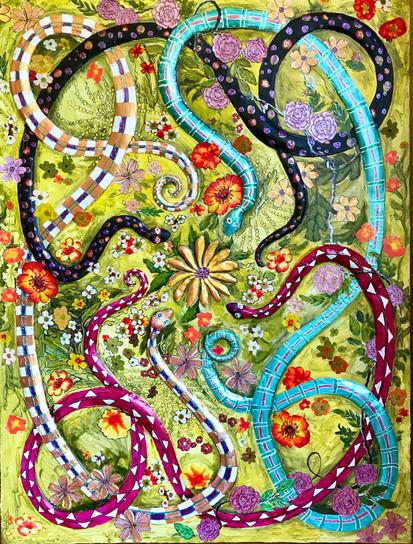 Vintage Garden Snakes #1