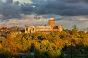 Autumn Light on St Albans Abbey