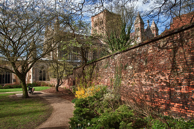 Abbey from the Vintry Gardens
